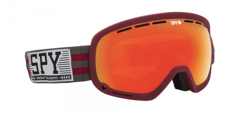 snowboard szemüveg ; SPY 2014 SNOW MARSHALL CHAIRLIFT COLLEGIATE AHMET DADALI PERSIMMON RED SPECTRA