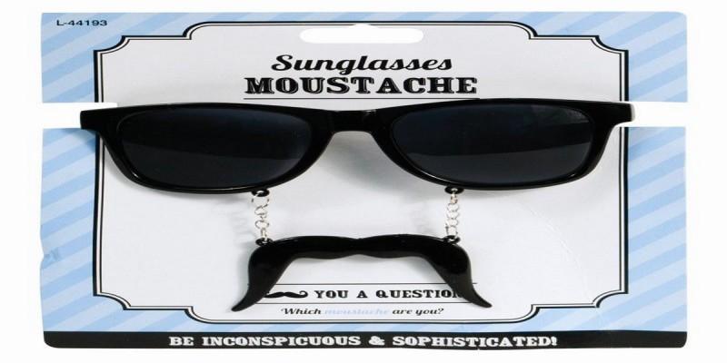 bajszos party szemüveg